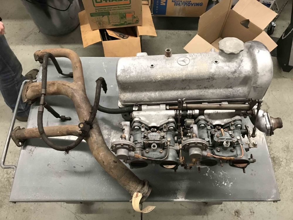 Mercedes Benz Engine Exhaust 190sl W121 Head Solex Carbs Manifold 1210103820